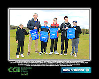 Fota Island GC team with Bank of Ireland Official Morgan Whelan and CGI Participation Officer Jennifer Hickey with Junior golfers across Munster practicing their skills at the regional finals of the Dubai Duty Free Irish Open Skills Challenge at the Ballykisteen Golf Club, Limerick Junction, Co. Tipperary. 16/04/2016.<br /> Picture: Golffile | Thos Caffrey<br /> <br /> <br /> <br /> <br /> <br /> All photo usage must carry mandatory copyright credit (© Golffile | Thos Caffrey)