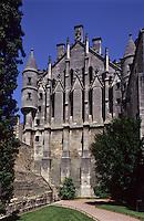 Europe/France/Poitou-Charentes/86/Vienne/Poitiers:Mur pignon de l'Hôtel de Justice- Palais des Comtes de Poitou-Ducs d'Aquitaine- Palais de Justice