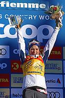 5th January 2020; Val Di Fiemme Ski Resort, Val Di Fiemme, Trento, Italy; International Ski Federation Audi FIS Womens Cross Country Ski World Cup, Tour De Ski Val Di Fiemme; Therese Johaug (NOR) on the podium