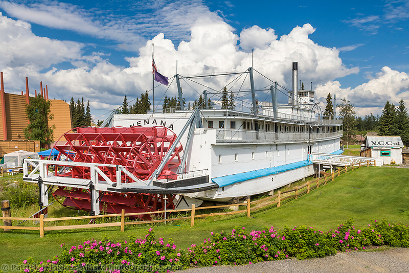 Historic Sternwheeler Riverboat Chena, now restored at the Pioneer Park, Fairbanks, Alaska.