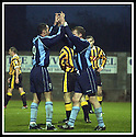 02/11/2002                   Copyright Pic : James Stewart.File Name : stewart-east fife v albion 05.CHARLES MCLEAN (RIGHT) IS CONGRATULATED BY LEE DUNCAN AFTER HE FIRES HOME ALBION'S FOURTH GOAL...Payments to :-.James Stewart Photo Agency, 19 Carronlea Drive, Falkirk. FK2 8DN      Vat Reg No. 607 6932 25.Office     : +44 (0)1324 570906     .Mobile  : +44 (0)7721 416997.Fax         :  +44 (0)1324 570906.E-mail  :  jim@jspa.co.uk.If you require further information then contact Jim Stewart on any of the numbers above.........