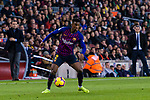 Nelson Semedo of FC Barcelonain action during the La Liga 2018-19 match between FC Barcelona and Villarreal at Camp Nou on 02 December 2018 in Barcelona, Spain. Photo by Vicens Gimenez / Power Sport Images