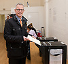 Brian Paddick <br /> LIberal Democrat candidate for Mayor of London <br /> casting his vote in the local and Mayor of London elections in London, Great Britain <br /> 3rd May 2012 <br /> <br /> Brian Paddick <br /> <br /> Photograph by Elliott Franks
