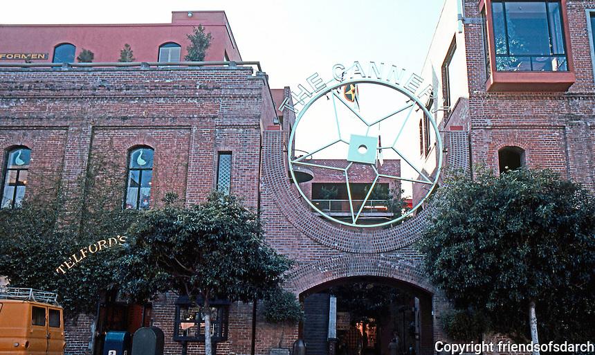 San Francisco:  The Cannery, c. 1909; Remodeled 1968, Joe Esherick & Assoc. Leavenworth St. Entrance.  Photo '83.