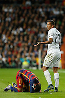 Real Madrid´s Danilo and Barcelona´s Neymar Jr during 2015-16 La Liga match between Real Madrid and Barcelona at Santiago Bernabeu stadium in Madrid, Spain. November 21, 2015. (ALTERPHOTOS/Victor Blanco) /NortePhoto
