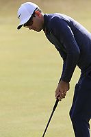 Dylan Frittelli (RSA) putts on the 13th green during Thursday's Round 1 of the 2018 Dubai Duty Free Irish Open, held at Ballyliffin Golf Club, Ireland. 5th July 2018.<br /> Picture: Eoin Clarke | Golffile<br /> <br /> <br /> All photos usage must carry mandatory copyright credit (&copy; Golffile | Eoin Clarke)