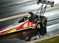 Jul 23, 2016; Morrison, CO, USA; NHRA top fuel driver Doug Kalitta during qualifying for the Mile High Nationals at Bandimere Speedway. Mandatory Credit: Mark J. Rebilas-USA TODAY Sports