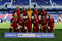 HARRISON, NJ - MARCH 08: England Starting Eleven during a game between England and Japan at Red Bull Arena on March 08, 2020 in Harrison, New Jersey.