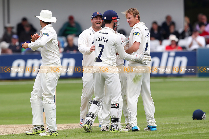 Tom Westley of Essex (R) celebrates the wicket of Zafar Ansari - Essex CCC vs Surrey CCC - LV County Championship Division Two Cricket at the Essex County Ground, Chelmsford, Essex - 26/05/14 - MANDATORY CREDIT: Gavin Ellis/TGSPHOTO - Self billing applies where appropriate - 0845 094 6026 - contact@tgsphoto.co.uk - NO UNPAID USE