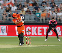 26th December 2019; Optus Stadium, Perth, Western Australia, Australia;  Big Bash League Cricket, Perth Scorchers versus Sydney Sixers; Liam Livingstone of the Perth Scorchers plays the ball to the on side - Editorial Use
