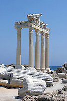 This marble temple is located in <br /> Side - an ancient harbor whose name means pomegranate.
