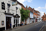 White Hart former coaching inn and historic buildings in High Street, Manningtree, Essex, England