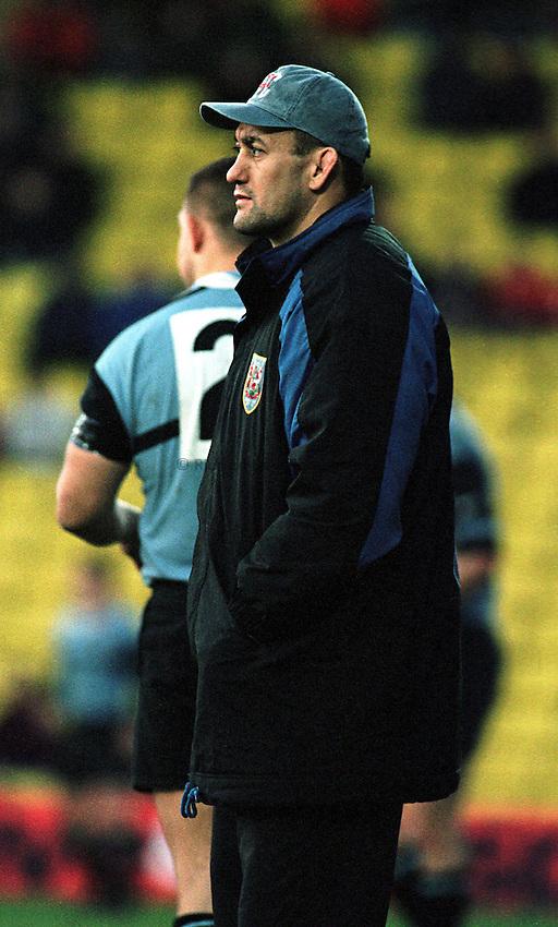 Photo. Richard Lane. .Saracens v Cardiff. 17/1/99..Cardiff's Hemi Taylor..