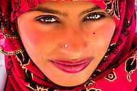 Bedouin woman, Petra Archaeological Park, Petra, Jordan.