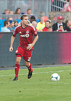 July 20, 2013: Toronto FC forward Jeremy Brockie #22 in action during a game between Toronto FC and the Columbus Crew at BMO Field in Toronto, Ontario Canada.<br /> Toronto FC won 2-1.