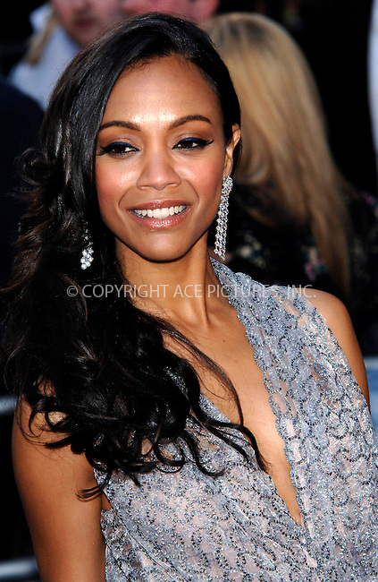 "WWW.ACEPIXS.COM . . . . .  ..... . . . . US SALES ONLY . . . . .....April 20 2009, London....Actress Zoe Saldana at the UK Film Premiere of ""Star Trek"" held at the Empire Leicester Square on April 20 2009 in London....Please byline: FAMOUS-ACE PICTURES... . . . .  ....Ace Pictures, Inc:  ..tel: (212) 243 8787 or (646) 769 0430..e-mail: info@acepixs.com..web: http://www.acepixs.com"