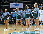 Amanda Shaw sings the National Anthem prior to the Tulane men's basketball team cruises pasts Maryville University 91-45.  Images are from the first half of action in Fogelman Arena.