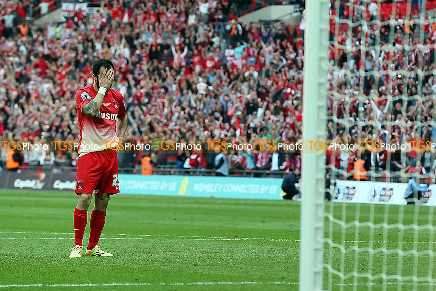 O's chris Dagnall after missing final pen<br /> Leyton Orient v Rotherham United United  - SkyBet League One Play Off Final Football at the Wembley Stadium London 25/05/14 - MANDATORY CREDIT SIMON O'CONNOR -Self Billing applies where appropiate
