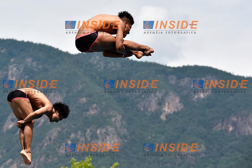 TERAUCHI Ken, OKAMOTO Yu JPN <br /> Synchronised Springboard 3m Final - Sincro Trampolino 3m Finale <br /> Bolzano 03-08-2014 <br /> 20 Fina Diving Grand Prix <br /> Photo Andrea Staccioli/Insidefoto