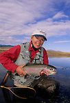 Angler Cathy Beck Rainbow trout release