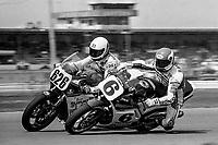 Wayne Rainey, #6 Honda, passes Ansers Ansersson, #626 Suzuki, Daytona 200, AMA Superbikes, Daytona International Speedway, Daytona Beach, FL, March 9, 1986.(Photo by Brian Cleary/bcpix.com)