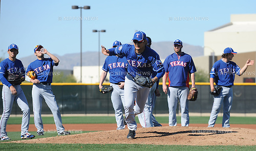 Yu Darvish (Rangers),.FEBRUARY 25, 2012 - MLB :.Texas Rangers spring training camp in Surprise, Arizona, United States. (Photo by AFLO)