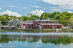 Red gallery on Duck Creek in Wellfleet, Cape Cod, Massachusetts, USA