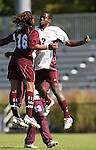 04 November 2007: Alabama A&M's Kevon Elliot (JAM) (17) and Michael-Terry Turner (16). The Alabama A&M University Bulldogs defeated the Duke University Blue Devils 4-3 at Koskinen Stadium in Durham, North Carolina in an NCAA Division I Men's Soccer game.