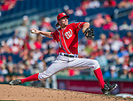 23 August 2015: Washington Nationals pitcher Casey Janssen on the mound against the Milwaukee Brewers at Nationals Park in Washington, DC. The Nationals defeated the Brewers 9-5 in the third game of their 3-game weekend series. Mandatory Credit: Ed Wolfstein Photo *** RAW (NEF) Image File Available ***