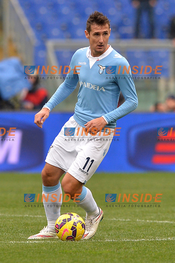 Miroslav Klose Lazio.<br /> Roma 18-01-2015 Stadio Olimpico. Football Calcio 2014/2015 Serie A. Lazio - Napoli. Foto Antonietta Baldassarre / Insidefoto
