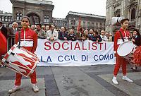 - Milan, meeting of Bettino Craxi, national secretary of the PSI (Italian Socialist Party) in Duomo square (May 1987) ....- Milano, comizio di Bettino Craxi, segretario nazionale del PSI (Partito Socialista Italiano) in piazza del Duomo (maggio 1987)