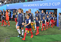 20190608 - REIMS , FRANCE : players entering the pitch  pictured during the female soccer game between Norway – the Grashoppene - and Nigeria – The Super Falcons - , the first game for both teams in group A during the FIFA Women's  World Championship in France 2019, Saturday 8 th June 2019 at the Auguste Delaune Stadium in Reims , France .  PHOTO SPORTPIX.BE | DIRK VUYLSTEKE
