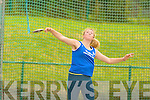 Claire Fitzgerald Tralee Harriers Farranfore/Maine Valley competing in the discus in the Junior and Master Athletic championships at An Riocht, Castleisland on Wednesday evening
