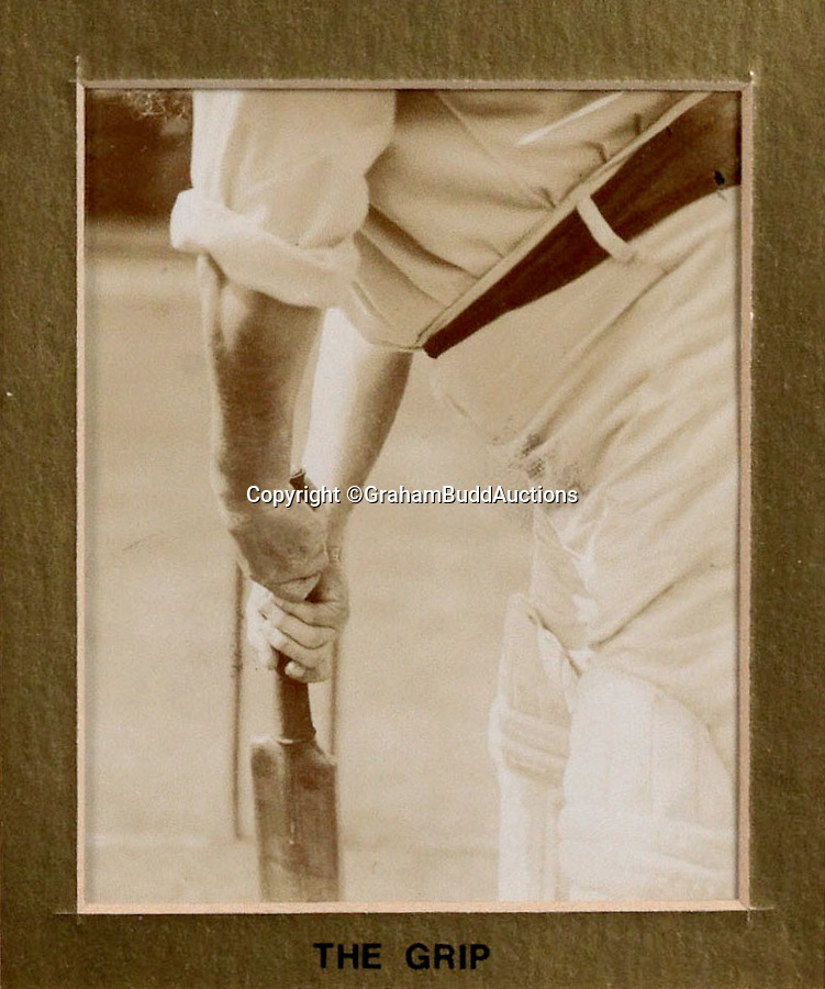 BNPS.co.uk (01202 558833)<br /> Pic: GrahamBuddAuctions/BNPS<br /> <br /> First textbook 'Grip' <br />  <br /> Rare photographs capturing legendary cricketer W.G. Grace demonstrating perfect batting technique for the sport's first picture instruction manual have emerged more than a century after they were taken. <br /> <br /> The collection of images, which are believed to be the first ever of live-action cricket, were snapped between 1901 and 1904 for the book 'Great Batsmen: Their Methods at a Glance'.<br /> <br /> They show a middle-aged Grace, who played first-class cricket for a record 44 seasons and is widely considered to have been England's greatest player, expertly striking a series of shots that even Geoffrey Boycott would find it difficult to fault. <br /> <br /> And after being acquired by a private collector they are set to go under the hammer in London next month with a £7,000 estimate.