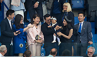 Leicester City Chairman Aiyawatt 'Top' Srivaddhanaprabha and family pre match during the Premier League match between Leicester City and Wolverhampton Wanderers at the King Power Stadium, Leicester, England on 10 August 2019. Photo by Andy Rowland.