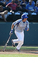 Steven Foster (10) of the Hofstra Pride bats during a game against the UCLA Bruins at Jackie Robinson Stadium on March 14, 2015 in Los Angeles, California. UCLA defeated Hofstra, 18-1. (Larry Goren/Four Seam Images)