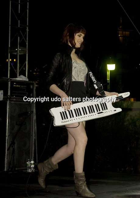 Victoria Jane Asher of Cobra Starship Performs at Launch Of The New Ford Fiesta With A Rooftop Concert At Manhattan Ford Featuring Cobra Starship 6/10/10