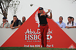 Ian Poulter teeing off on the second tee on.day one of the Abu Dhabi HSBC Golf Championship 2011, at the Abu Dhabi golf club 20/1/11..Picture Fran Caffrey/www.golffile.ie.