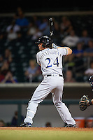 Salt River Rafters Jacob Nottingham (24), of the Milwaukee Brewers organization, during a game against the Mesa Solar Sox on October 22, 2016 at Sloan Park in Mesa, Arizona.  Salt River defeated Mesa 7-2.  (Mike Janes/Four Seam Images)