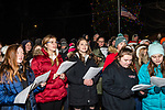 BETHLEHEM, CT. 07 December 2018-120718 - Carolers and students from the Woodbury Middle School and Nonnewaug High School chorus groups sing christmas carols for those gathered during the annual Christmastown Festival on the Town Green in Bethlehem on Friday. Bill Shettle Republican-American