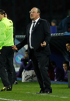 Rafael Benitez  in action during the Italian Serie A soccer match between SSC Napoli and AC Fiorentina   at San Paolo stadium in Naples, March 22 , 2014