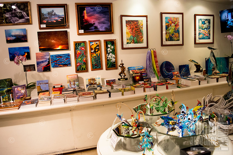 The gift shop at Hawaii Tropical Botanical Garden in Papa'ikou near Hilo, Big Island of Hawai'i.