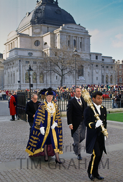 Lady Mayor of Westminster at the Central Hall of Westminster, London, England