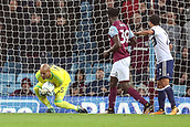 12th September 2017, Villa Park, Birmingham, England; EFL Championship football, Aston Villa versus Middlesbrough; Darren Randolph of Middlesbrough collects the ball safely