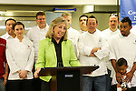 Boys and girls club chefs from the city with 3 Square, Dina Titus