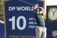 Joost Luiten (NED) on the 10th tee during the 3rd round of the DP World Tour Championship, Jumeirah Golf Estates, Dubai, United Arab Emirates. 23/11/2019<br /> Picture: Golffile | Fran Caffrey<br /> <br /> <br /> All photo usage must carry mandatory copyright credit (© Golffile | Fran Caffrey)