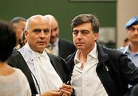 Valter Lavitola  l i nell   aula del tribunale di napoli durante il processo  per corruzione