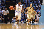 08 November 2008: North Carolina's Larry Drew II (11). The University of North Carolina Tarheels defeated the University of North Carolina at Pembroke Braves 102-62 at the Dean E. Smith Center in Chapel Hill, NC in an NCAA exhibition basketball game.