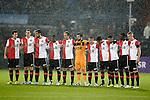 Nederland, Rotterdam, 1 december  2012.Eredivisie.Seizoen 2012-2013.Feyenoord-RKC Waalwijk.Herdenking