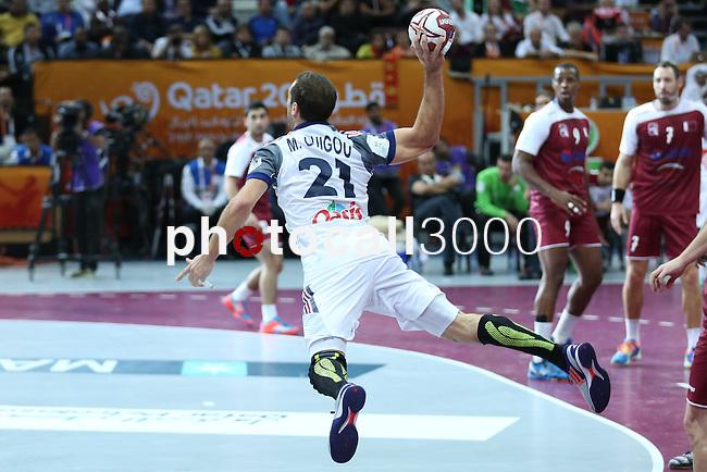 handball wordl cup match between Qatar vs France.guou . 2015/02/1. Doha. Qatar. Alberto de Isidro. Photocall3000